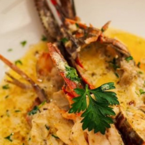 Resep Lobster with Garlic Creamy Sauce