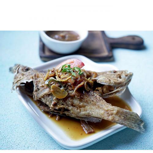 Resep Kerapu Goreng Saus Taoco