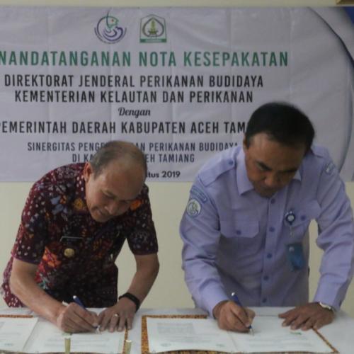 KKP dengan Pemda  Aceh Tamiang Jalin Kerjasama Kembangkan Perikanan Budidaya Berkelanjutan